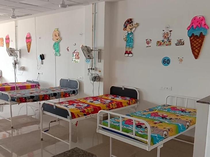 तीसरी लहर से निपटने के लिए रतलाम जिले में बच्चों के लिए तैयार हो रहे सर्व सुविधा युक्त 300 बेड, मेडिकल कॉलेज में सामाजिक संस्था की मदद से तैयार हुआ 30 बेड का वार्ड|रतलाम,Ratlam - Dainik Bhaskar