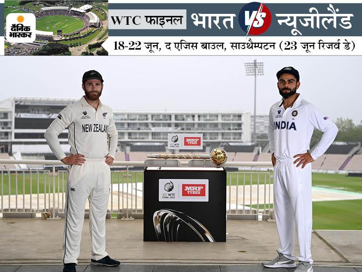बारिश के कारण पहले दिन का खेल नहीं हो सका, 4 दिन में नतीजा नहीं निकला तो रिजर्व डे का इस्तेमाल किया जाएगा|क्रिकेट,Cricket - Dainik Bhaskar