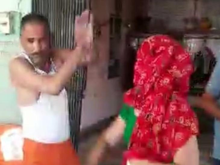 सोशल मीडिया पर वीडियो वायरल किया तो पंडित ने जहर खाया, भर्ती; आराेप- मंदिर पर कब्जा करना चाहती है महिला|अलवर,Alwar - Dainik Bhaskar