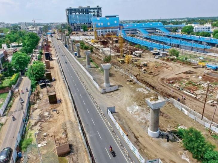 मेगा प्रोजेक्ट्स; मंद रफ्तार, 513 करोड़ लागत के चार बड़े प्रोजेक्ट्स की स्पीड को झटका|भोपाल,Bhopal - Dainik Bhaskar