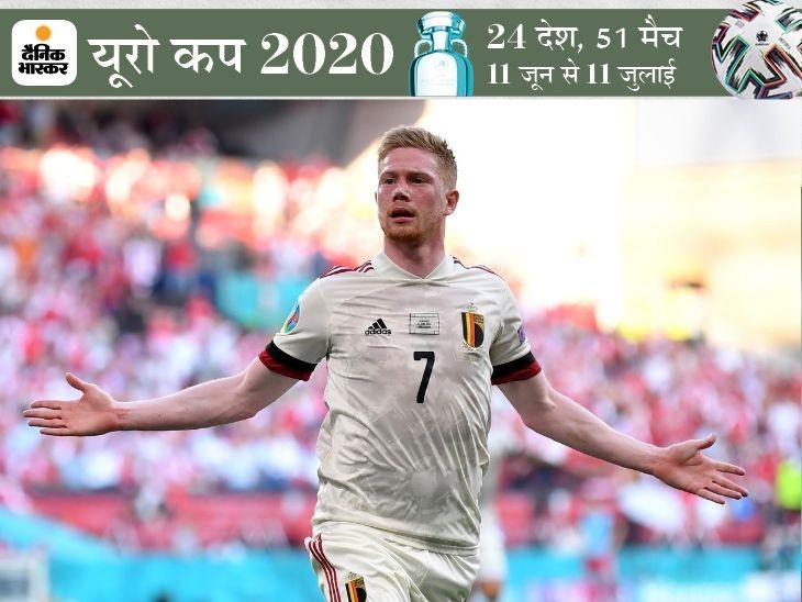 बेल्जियम के मिडफ़ील्ड के महारथी ने डी ब्रूयने ने हाफ टाइम के बाद बदला गेम|स्पोर्ट्स,Sports - Dainik Bhaskar