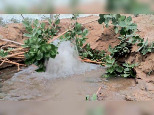 अधिकारियों को सूचना देने के बाद पानी सप्लाई बंद करवा दी गई। - Dainik Bhaskar