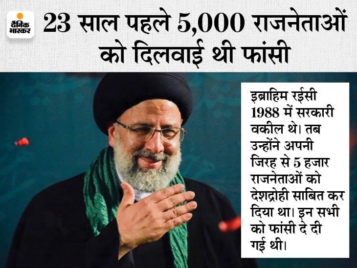 कट्टरपंथी इब्राहिम रईसी बने ईरान के आठवें राष्ट्रपति, परमाणु कार्यक्रम जारी रखने के पक्षधर; चीफ जस्टिस भी रह चुके|विदेश,International - Dainik Bhaskar