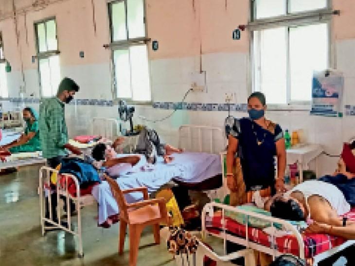 ब्लैक फंगस के मरीजों को 10 दिन में दूसरी बार कंपन-घबराहट, 2 को रैफर करना पड़ा|उज्जैन,Ujjain - Dainik Bhaskar