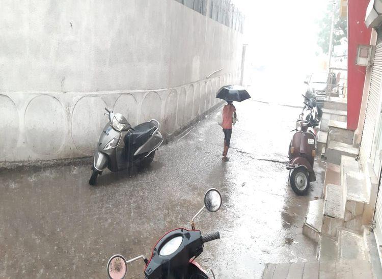 सुमेरपुर में बरसात से मौसम हुआ सुहाना।