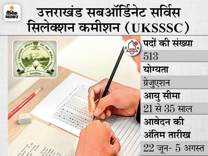 पटवारी और लेखपाल के 513 पदों पर भर्ती के लिए करें अप्लाई, 22 जून से शुरू होगी आवेदन प्रक्रिया|करिअर,Career - Dainik Bhaskar