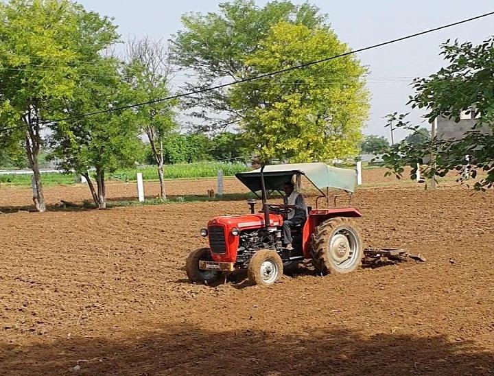 दौसा के पास बाजरे की बुवाई करता किसान। - Dainik Bhaskar