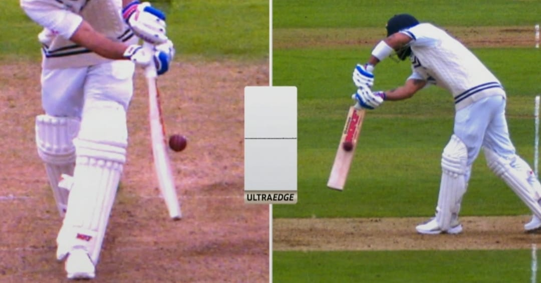 बॉल ने कोहली के बल्ले को छुआ तक नहीं।