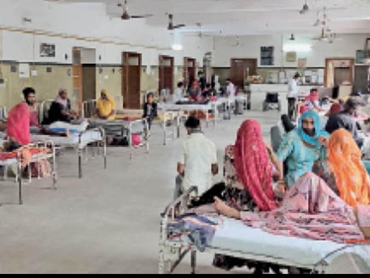 सर्जरी के बाद पीबीएम के पोस्ट ऑपरेटिव वार्ड में मरीज फुल हो गए। पहले यहां कोविड मरीज भर्ती थे। - Dainik Bhaskar