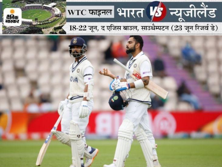 विराट कोहली और अजिंक्य रहाणे ने चौथे विकेट के लिए अच्छी साझेदारी की है।
