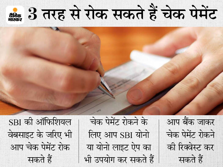 SBI कस्टमर घर बैठे ही रोक सकते हैं चेक पेमेंट, यहां जानें इसकी ऑनलाइन प्रोसेस|बिजनेस,Business - Dainik Bhaskar