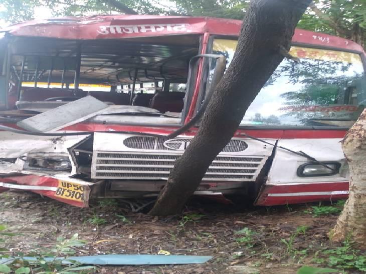 आजमगढ़ से लखनऊ जा रही रोडवेज बस पेड़ से टकराई, 4 लोग घायल, 1 की हालत गम्भीर अयोध्या,Ayodhya - Dainik Bhaskar
