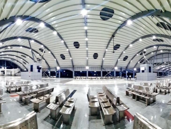 देश का पहला एयरपोर्ट जैसा रेलवे स्टेशन, 1200 से ज्यादा यात्रियों के बैठने की जगह भोपाल,Bhopal - Dainik Bhaskar