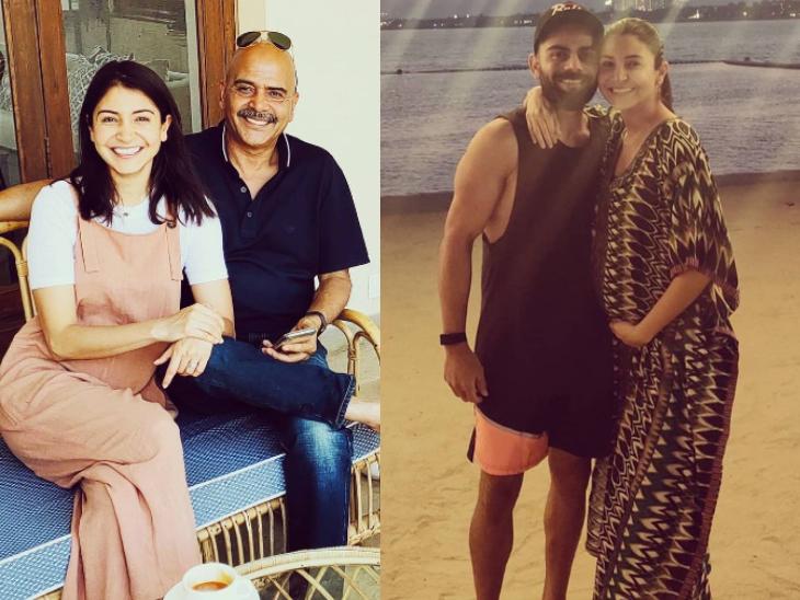 अनुष्का शर्मा ने अनसीन फोटोज शेयर कर अपने पिता और बेटी वामिका के पापा विराट को विश किया फादर्स डे|बॉलीवुड,Bollywood - Dainik Bhaskar