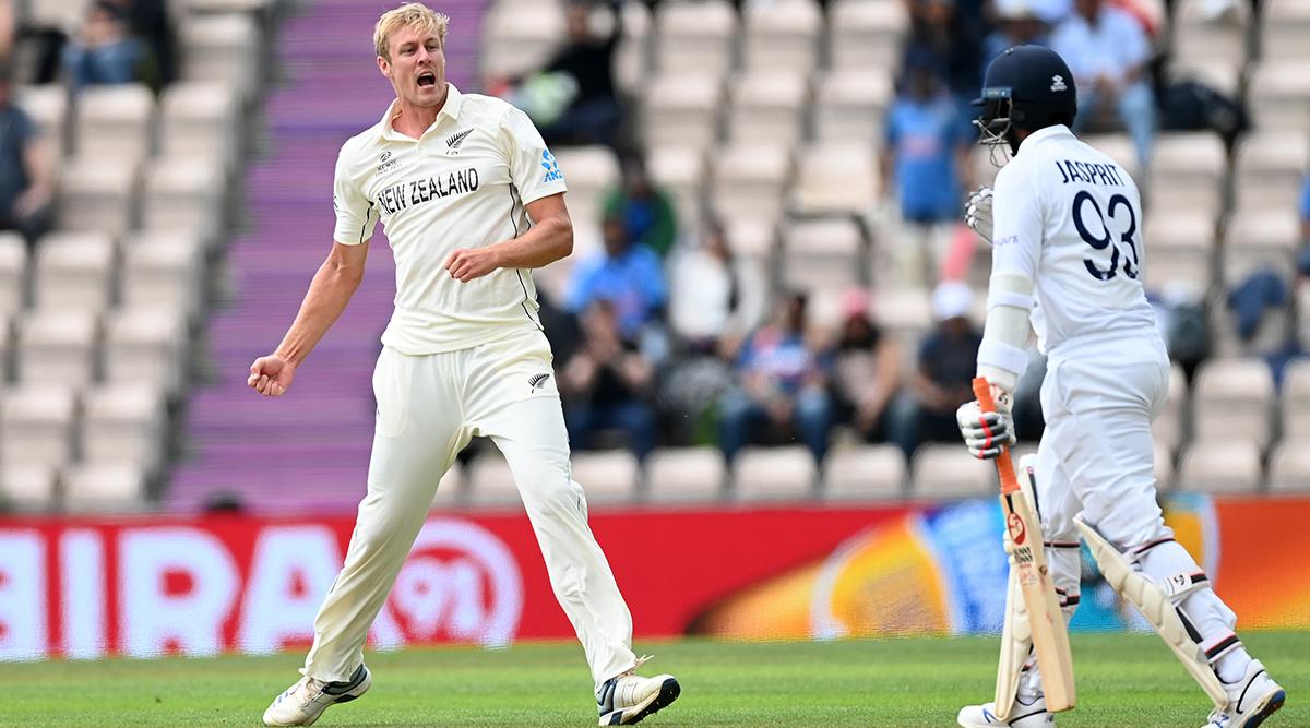 जेमिसन ने भारत की पहली पारी में रोहित शर्मा, विराट कोहली, ऋषभ पंत, ईशांत और जसप्रीत बुमराह के विकेट लिए।