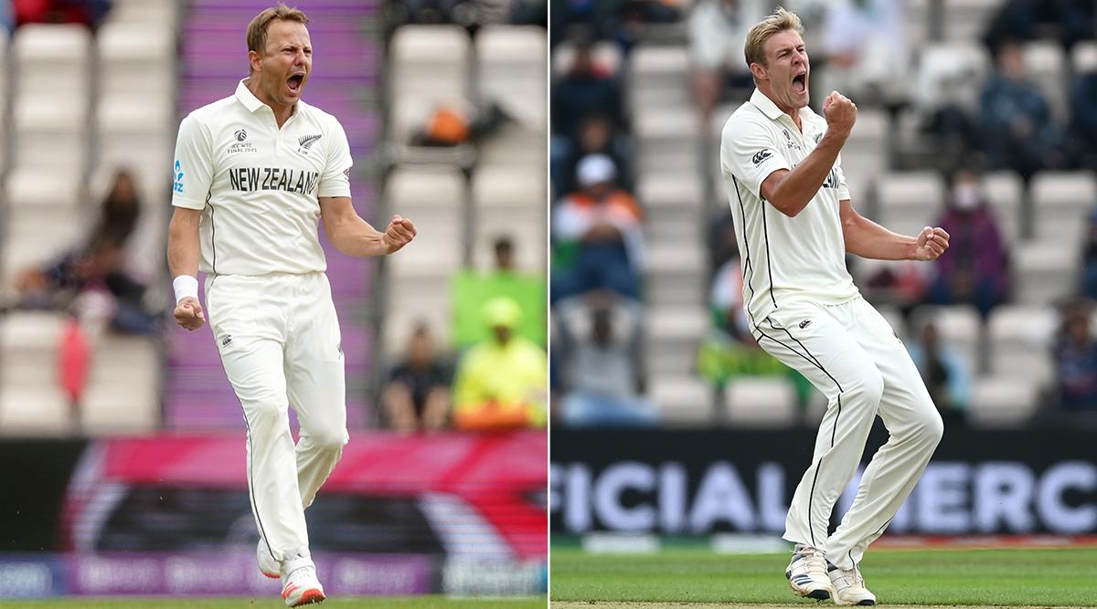 भारत की पहली पारी में नील वैगनर ने 2 और जेमिसन ने 5 विकेट लिए। इसके अलावा बोल्ट को भी 2 विकेट मिले।