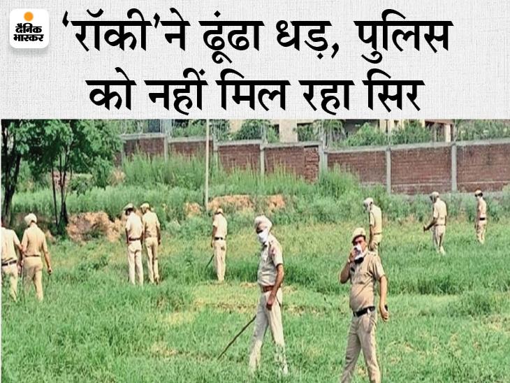 न्यू चंडीगढ़ एरिया में पुलिस को सिर कटी लाश मिली। पुलिस ने रात भर खोजी लेकिन मिली नहीं। मुख्य आरोपी गायब, दो को पकड़ा। - Dainik Bhaskar