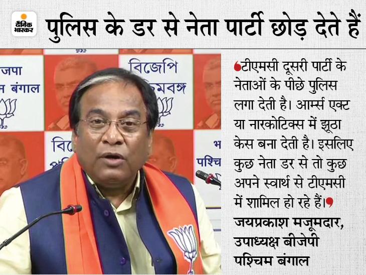 जिस अलीपुरद्वार की पांचों सीटें BJP ने जीती, वहां के जिला अध्यक्ष अपनी टीम के साथ TMC में शामिल DB ओरिजिनल,DB Original - Dainik Bhaskar