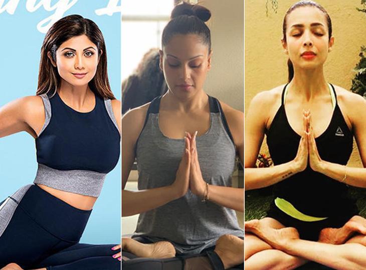 शिल्पा शेट्टी से मलाइका अरोड़ा तक, बॉलीवुड की फेमस एक्ट्रेसेस खुद को योग के जरिए रखती हैं फिट बॉलीवुड,Bollywood - Dainik Bhaskar