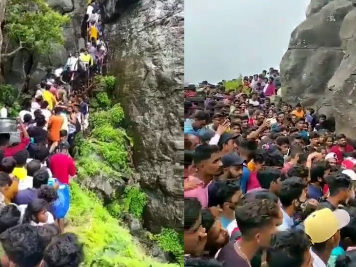 प्रतिबंध के बावजूद हजारों की संख्या में नियम तोड़ अंबोली, पालघर और त्र्यंबकेश्वर पहुंचे पर्यटक, सैकड़ों लोगों पर दर्ज हुआ केस|महाराष्ट्र,Maharashtra - Dainik Bhaskar