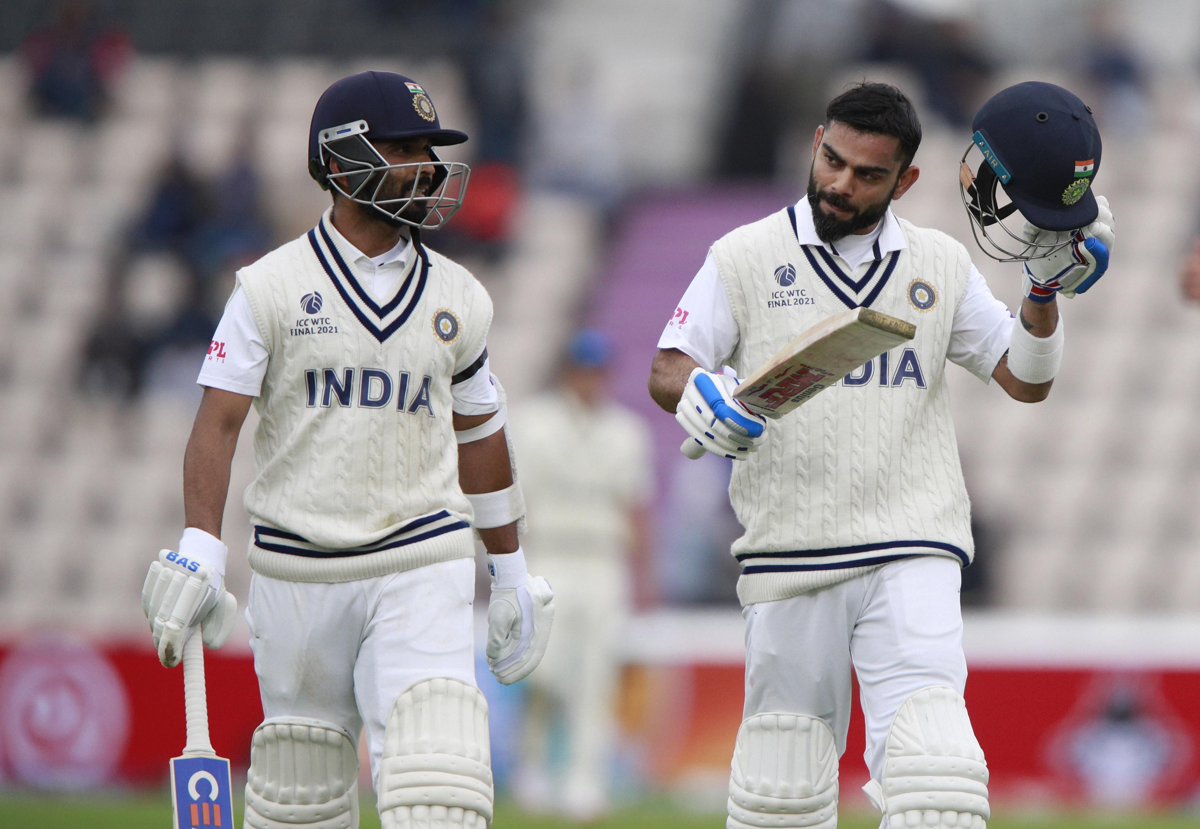 रविवार को भारत ने 146/3 से आगे खेलना शुरू किया। भारत के लिए रहाणे और कोहली मैदान पर उतरे। इन दोनों से काफी उम्मीद थी।