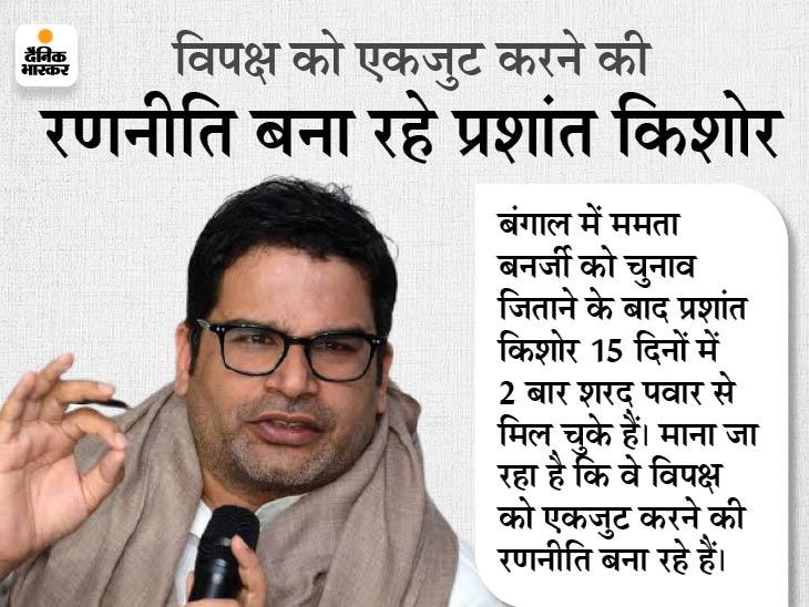 पवार से मीटिंग के बाद प्रशांत किशोर बोले- तीसरा या चौथा मोर्चा BJP को टक्कर नहीं दे सकता है|देश,National - Dainik Bhaskar