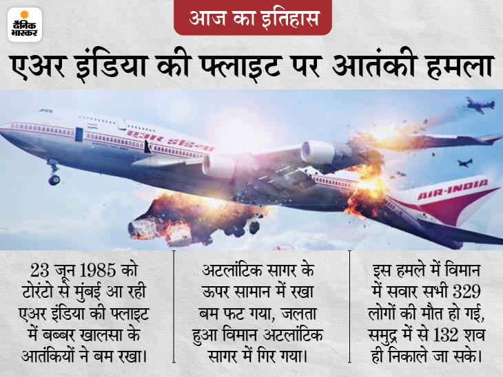 एअर इंडिया की फ्लाइट में रखे बम ने ली 329 लोगों की जान, बब्बर खालसा के जिस आतंकी के बैग में बम था उसका आज तक पता नहीं चला|देश,National - Dainik Bhaskar