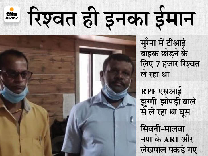 2 दिन में लोकायुक्त और CBI की टीम ने 4 घूसखोर पकड़े, दो वर्दी वाले निकले दागदार मध्य प्रदेश,Madhya Pradesh - Dainik Bhaskar