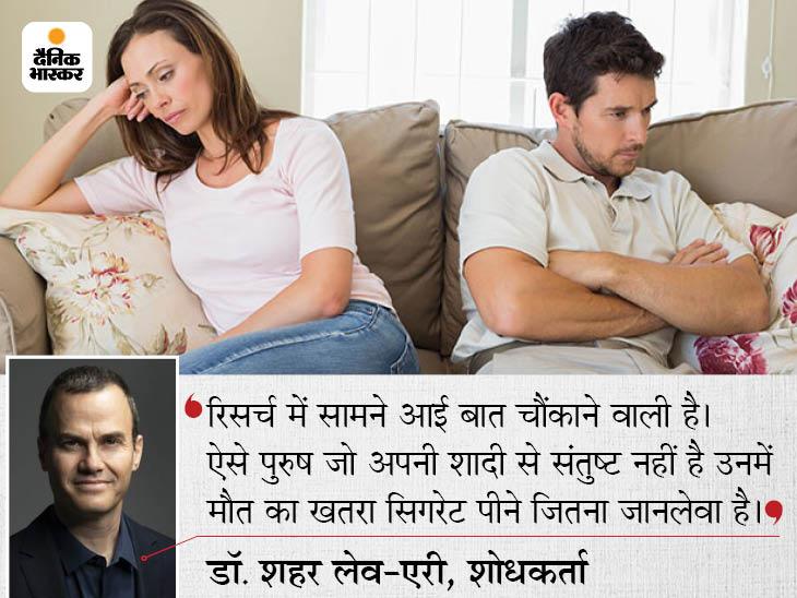 शादीशुदा जीवन में तनाव सिगरेट पीने जितना जानलेवा; ऐसे पुरुषों में स्ट्रोक से मौत का खतरा 69% तक; इनकी मौत के आंकड़े 19% तक बढ़े|लाइफ & साइंस,Happy Life - Dainik Bhaskar