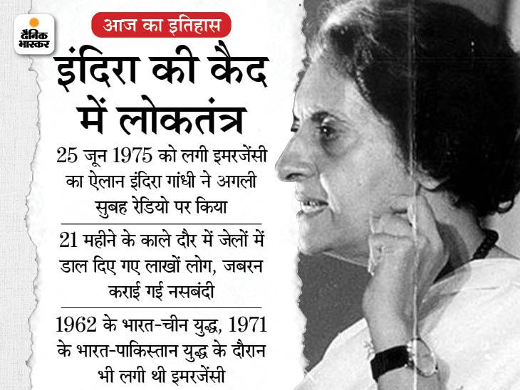 46 साल पहले आज ही शुरू हुआ था भारतीय लोकतंत्र का काला अध्याय, इमरजेंसी के ऐलान से 13 दिन पहले इलाहाबाद में पड़ी इसकी नींव|देश,National - Dainik Bhaskar