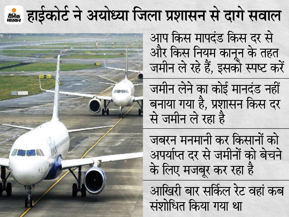 HC की लखनऊ खंडपीठ ने अयोध्या के DM समेत 3 अफसरों को 29 जून को तलब किया: पूछा- किस नियम के तहत हो रही जमीनों की खरीदारी|अयोध्या (फैजाबाद),Ayodhya (Faizabad) - Dainik Bhaskar