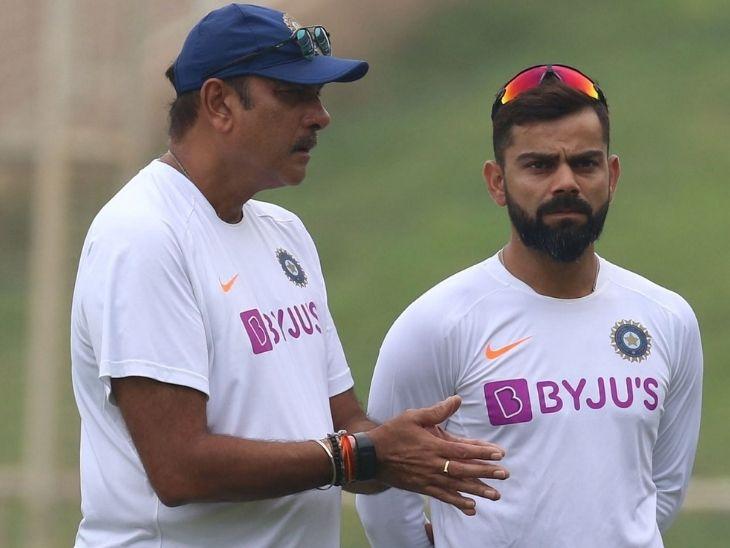 रवि शास्त्री और विराट कोहली की कोच-कप्तान की जोड़ी अब तक टीम इंडिया को कोई ICC खिताब नहीं दिला सकी है। - Dainik Bhaskar