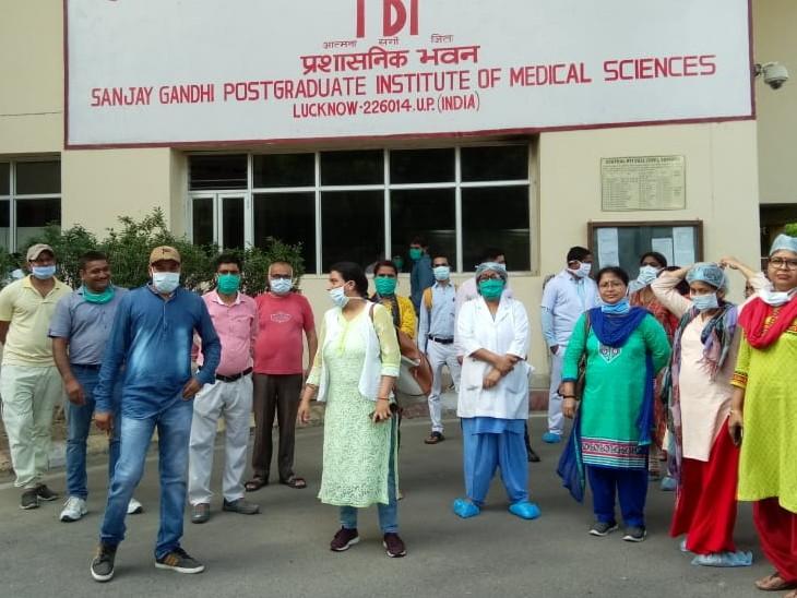 नर्सों ने चेतावनी दी है कि अगर उनकी मांगे पूरी नहीं हुईं तो वह पूर्ण रूप से कार्य बहिष्कार कर देंगी। - Dainik Bhaskar
