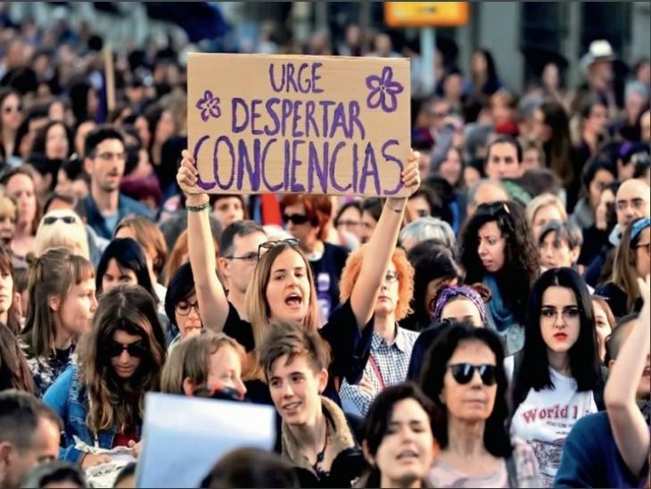 स्पेन में लॉकडाउन में बढ़े पतियों के जुल्म; विरोध में 250 जगहों पर प्रदर्शन, एक महीने में पत्नी की हत्या के 13 मामले विदेश,International - Dainik Bhaskar