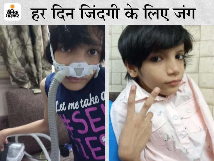 4 साल से एक फेफड़े से सांस ले रही बच्ची ने कोरोना को हराया; ऑक्सीजन लेवल 50 तक गिर चुका था, घर पर ही हुई रिकवरी इंदौर,Indore - Dainik Bhaskar