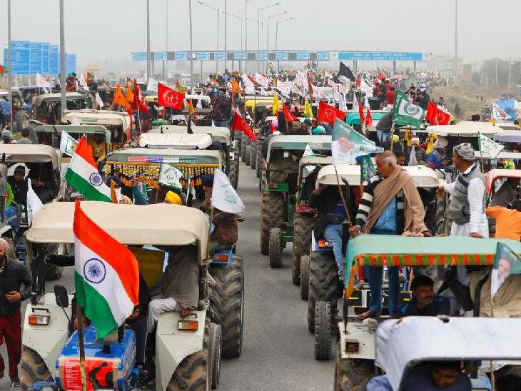 तस्वीर 26 जनवरी 2020 की है। गणतंत्र दिवस के मौके पर किसानों ने दिल्ली में ट्रैक्टर रैली निकाली थी।