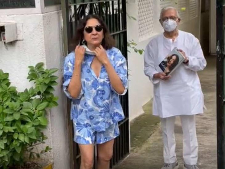 नीना गुप्ता ने गुलजार साहब को गिफ्ट की अपनी ऑटोबायोग्राफी, पूछा- पढ़ोगे?|बॉलीवुड,Bollywood - Dainik Bhaskar