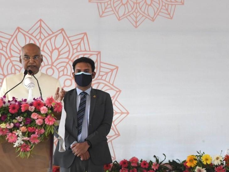राष्ट्रपति रामनाथ कोविंद ने अभिनंदन समारोह को भी संबोधित किया।