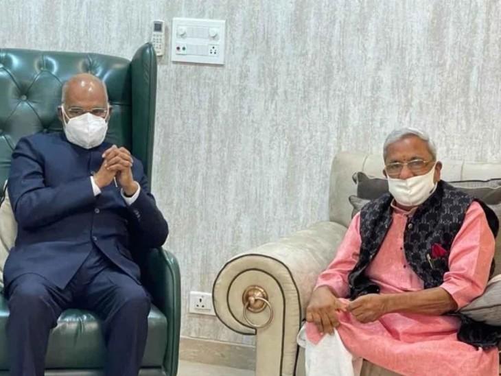 राष्ट्रपति रामनाथ कोविंद ने अपने दौरे के दौरान अपने बचपन के दोस्त केके अग्रवाल से मुलाकात की।