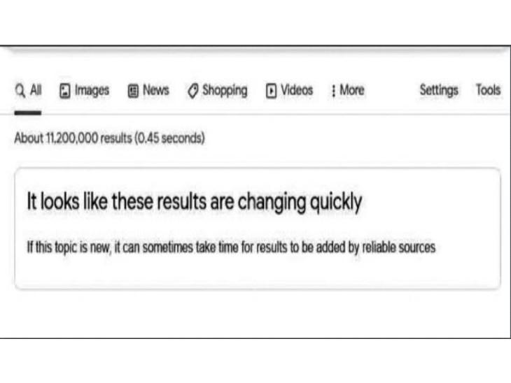 अगर जानकारी भरोसेमंद नहीं हुई तो यूजर को बताएगा गूगल, अलर्ट भी करेगा- इस विषय पर ठोस सूचनाएं नहीं हैं|विदेश,International - Dainik Bhaskar