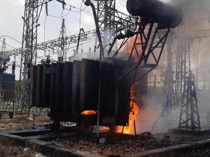 अंता, सुल्तानपुर, CFCL प्लांट में बिजली सप्लाई ठप; 4 दमकलें मौके पर, आग बुझाने केप्रयास जारी|कोटा,Kota - Dainik Bhaskar