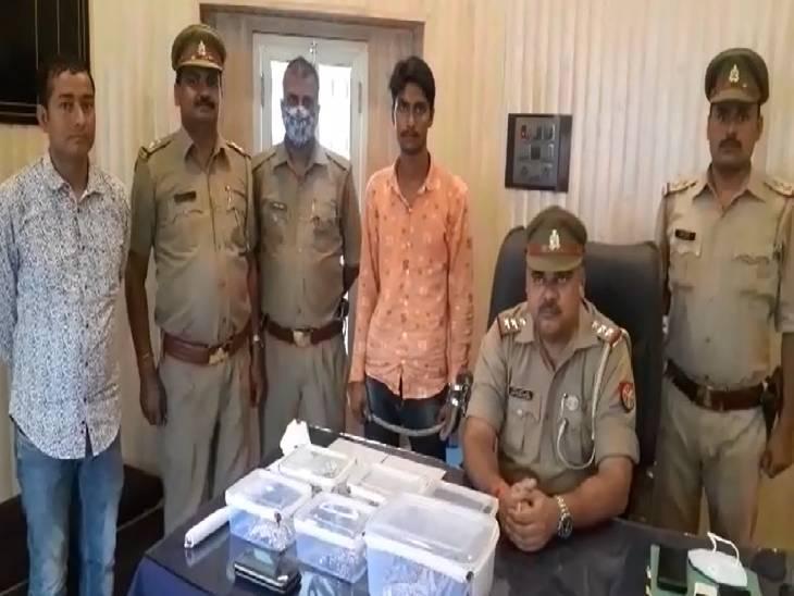 बावरिया गैंग का बताया जा रहा सदस्य, 10 लाख रुपए के गहने व बंदूक और कारतूस बरामद|मेरठ,Meerut - Dainik Bhaskar