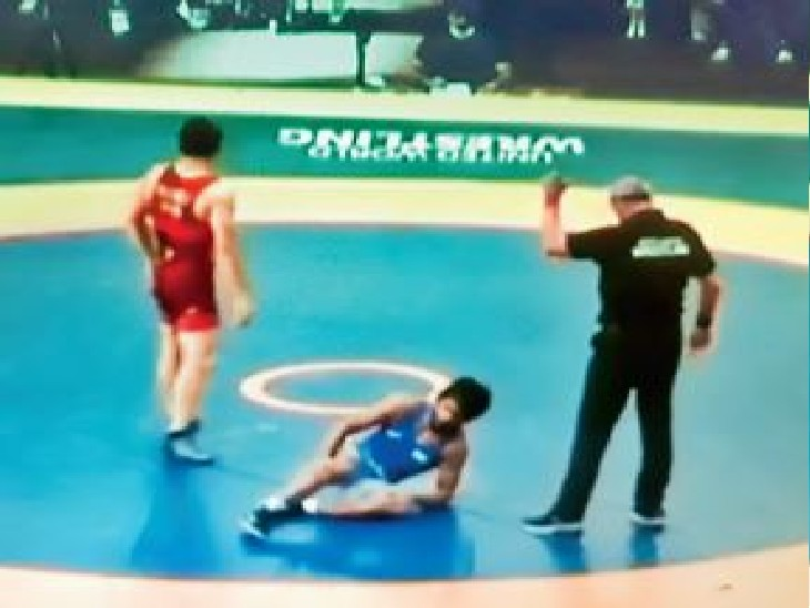 रूस में प्रैक्टिस के दौरान बजरंग पूनिया के घुटने में लगी चोट|सोनीपत,Sonipat - Dainik Bhaskar