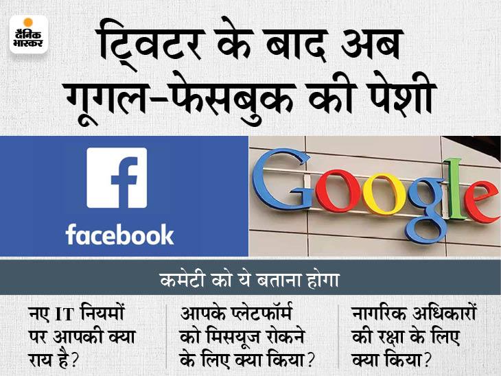 थरूर की अगुआई वाली कमेटी ने गूगल, फेसबुक को समन भेजा; प्लेटफॉर्म के गलत इस्तेमाल पर होंगे सवाल|देश,National - Dainik Bhaskar