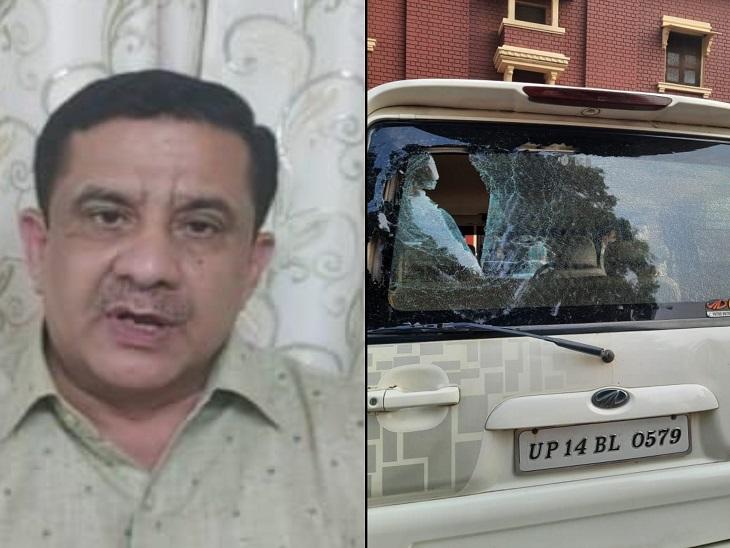 लखनऊ में शिया वक्फ बोर्ड के पूर्व चेयरमैन पर मुस्लिम लड़को ने फेंके ईंट-पत्थर, बाल-बाल बचे वसीम रिजवी|लखनऊ,Lucknow - Dainik Bhaskar
