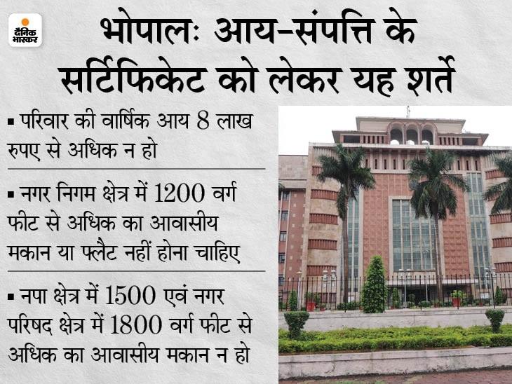 सरकारी ने जारी किए आदेश, निशुल्क बनेगा प्रमाण पत्र, तहसीलदार को किया अधिकृत|भोपाल,Bhopal - Dainik Bhaskar