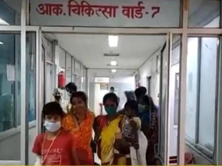 एसजीएमएच में घायल मासूम का चल रहा उपचार। - Dainik Bhaskar