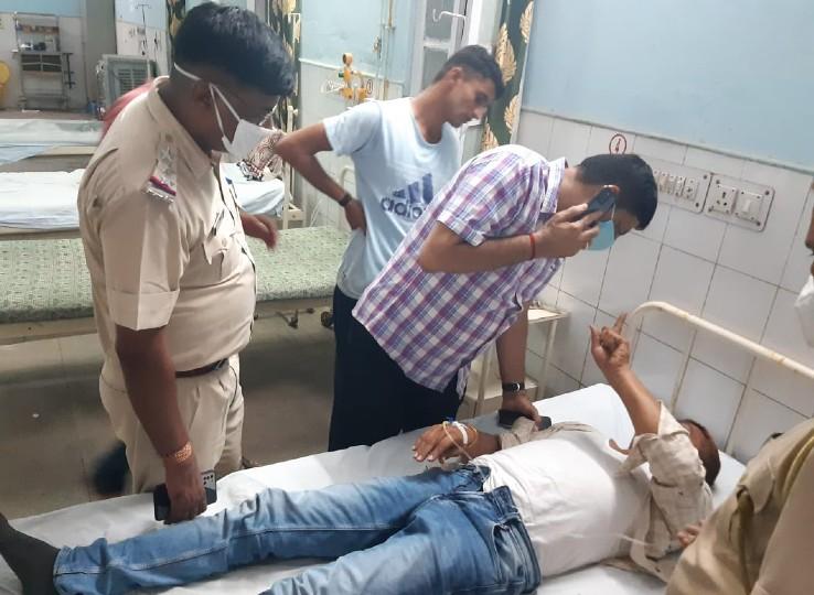 हेड कांस्टेबल की मौत, 5 पुलिसकर्मी घायल; दबिश की भनक लगते ही वाहन सहित भागने लगे थे बदमाश|अजमेर,Ajmer - Dainik Bhaskar