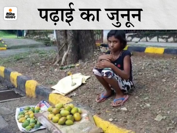 महामारी में पिता की नौकरी गई, पढ़ने के लिए बच्ची बेच रही थी सड़क किनारे आम, मुंबई के बिजनेसमैन ने 1.20 लाख में खरीदे 12 आम|झारखंड,Jharkhand - Dainik Bhaskar