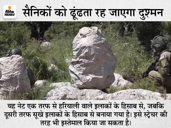 इसेे लपेटने से सैनिक की जगह चट्टान नजर आएगी, थर्मल डिटेक्टर और नाइट विजन उपकरण भी नहीं पकड़ सकते|विदेश,International - Dainik Bhaskar